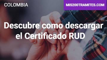 Descubre como descargar el Certificado RUD